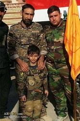 موصل میں الحشد الشعبی کا سب سے چھوٹا مجاہد شہید