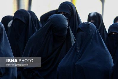 اجتماع زیبای بانوان پوشیه ای در مشهد/تصاویر