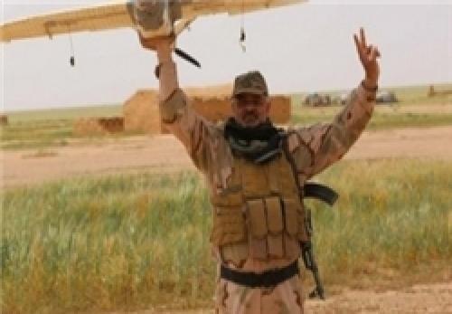 سرنگونی پهپاد داعش در غرب موصل توسط «الحشد الشعبی»
