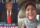 زنی که به سبب حرفهای ترامپ مسلمان شد