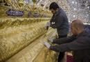 हज़रत अब्बास (अ) की नई ज़रीह लगाए जाने की तस्वीरें