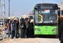 सीरिया सरकार की बड़ी कामयाबी आम लोगों का पहला जत्था पहुँचा सुरक्षित स्थान पर