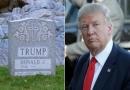 سنگ قبر ترامپ،کاندیدای ریاست جمهوری آمریکا ساخته شد/فیلم