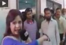 کتک خوردن خبرنگار زن از یک سرباز+فیلم