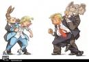 دعوای کلینتون و ترامپ/کاریکاتور