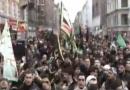 دسته عزاداری حسینی در روز عاشورا در شهر کپنهاگ در کشور دانمارک